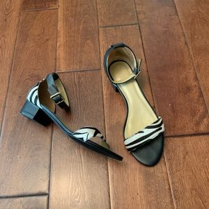Talbots size 8.5 zebra print shoes